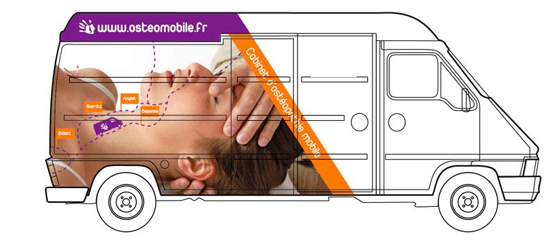 camion osteomombile pour consultation sur lieu de travail
